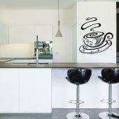 Autocolante decorativo xícara de café