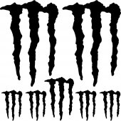 Autocolante monster energy