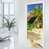 Autocolante para porta areia