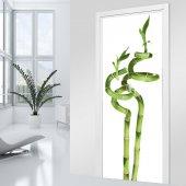 Autocolante para porta bambu