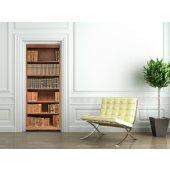 Autocolante para porta biblioteca
