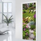 Autocolante para porta jardim