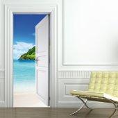 Beach Door Stickers