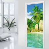 Caribbean Door Stickers