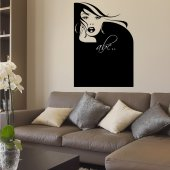 Face - Chalkboard / Blackboard Wall Stickers