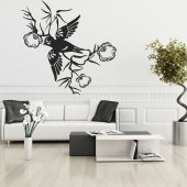 Flower Bird Asia Wall Stickers