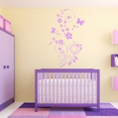 Flower Butterflies Wall Stickers