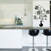 Flower Vase Wall Stickers