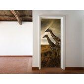Fototapet pentru usa Girafe