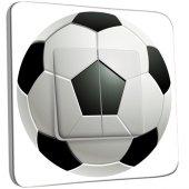 Interrupteur Décoré Double va et vient Ballon de foot Black&White 2