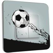 Interrupteur Décoré Double va et vient Ballon de foot Design 1