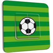 Interrupteur Décoré Double va et vient  Ballon de foot Fond vert