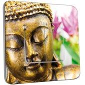 Interrupteur Décoré double va et vient Bouddha