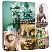 Interrupteur Décoré double va et vient Bouddha en Plusieurs Images