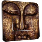 Interrupteur Décoré double va et vient Bouddha Or