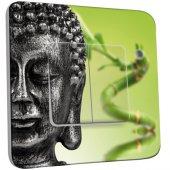 Interrupteur Décoré Double va et vient Bouddha Zen 2
