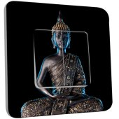 Interrupteur Décoré Double va et vient  Bouddha Zen 3