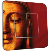 Interrupteur Décoré Double va et vient  Bouddha Zoom Or 5
