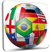 Interrupteur Décoré double va et vient Coupe du monde