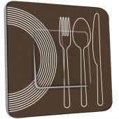 Interrupteur Décoré Double va et vient Cuisine Couverts Design 1