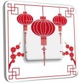 Interrupteur Décoré Double va et vient  design chinois