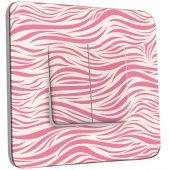 Interrupteur Décoré Double va et vient Illusion White&Pink