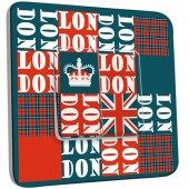 Interrupteur Décoré Double va et vient London Abstrait 1