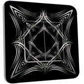 Interrupteur Décoré Double va et vient Motif Oriental Black&White 4