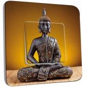 Interrupteur Décoré Double va et vient Statue Bouddha Or