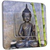 Interrupteur Décoré Double va et vient Statue de Bouddha