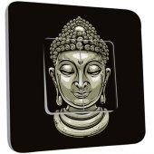 Interrupteur Décoré Double va et vient Tête de Bouddha