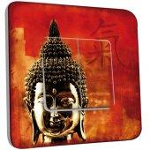 Interrupteur Décoré Double va et vient Tête de Bouddha Zoom 1