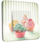 Interrupteur Décoré Poussoir 4 Cupcake