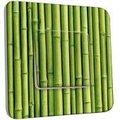 Interrupteur Décoré Poussoir Bambou Zoom