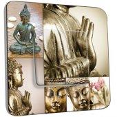 Interrupteur Décoré Poussoir Bouddha Zen