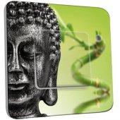 Interrupteur Décoré Poussoir Bouddha Zen 2