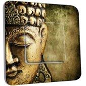 Interrupteur Décoré Poussoir Bouddha Zoom Or 4
