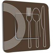 Interrupteur Décoré Poussoir Cuisine Couverts Design  1