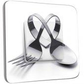 IInterrupteur Décoré Poussoir  Cuisine Couverts en Coeur
