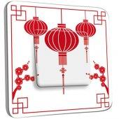 Interrupteur Décoré Poussoir design chinois