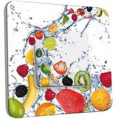 Interrupteur Décoré Poussoir Fruits Fruits Design