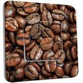 Interrupteur Décoré Poussoir Graines de Café Zoom