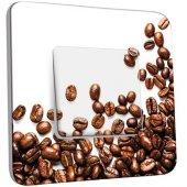 Interrupteur Décoré Poussoir Graines de Café Zoom 2
