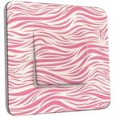 Interrupteur Décoré Poussoir Illusion White&Pink