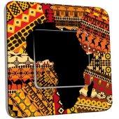 Interrupteur Décoré Poussoir Motif Africain Design 2