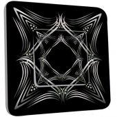 Interrupteur Décoré Poussoir Motif Oriental Black&White 4