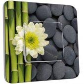 Interrupteur Décoré Poussoir Nature-Pierres,Bambou Fleur 4