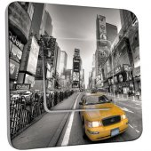 Interrupteur Décoré Poussoir  New York Taxi 01
