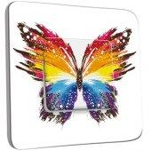 Interrupteur Décoré Poussoir Papillon Multicoloré Design