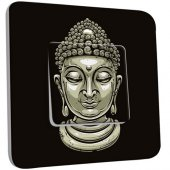 Interrupteur Décoré Poussoir Tête de Bouddha